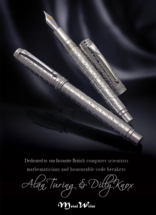 Image of MetalWrite Alan Turing and Dilly Knox pens