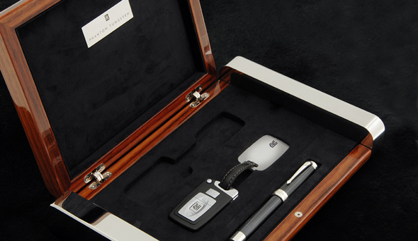 Image of Conway Stewart exclusive pens for the Rolls Royce Phantom Tungsten Collection