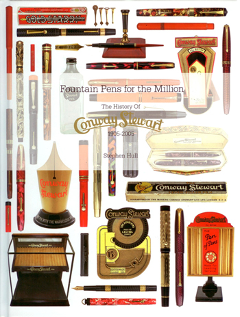 Look Inside: 'Fountain Pens for the Million:  The History of Conway Stewart: 1905 - 2005'  by Stephen Hull