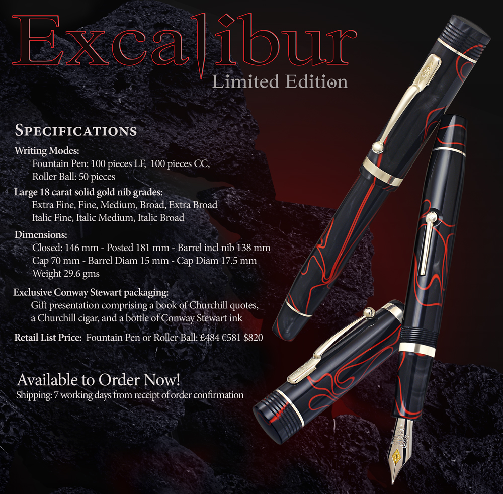 Conway Stewart Churchill Excalibur Limited Edition