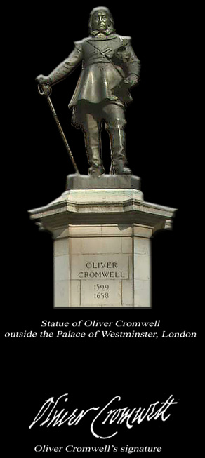 Image of Statue of Oliver Cromwell outside the Palace of Westminster, London