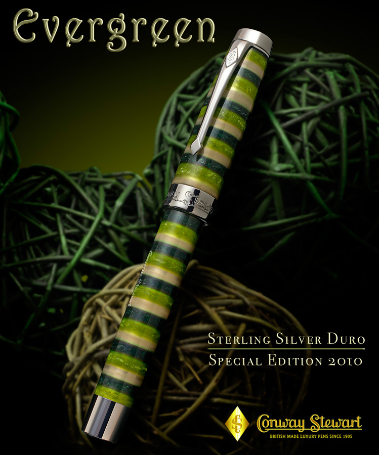 Image of Evergreen Sterling Silver Duro Pen