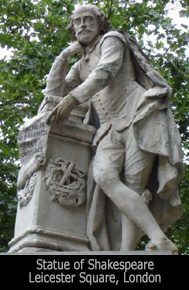 Statue of Shakespeare in Leicester Square, London