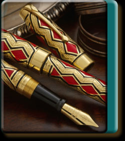 Gold Deco Diamond pen