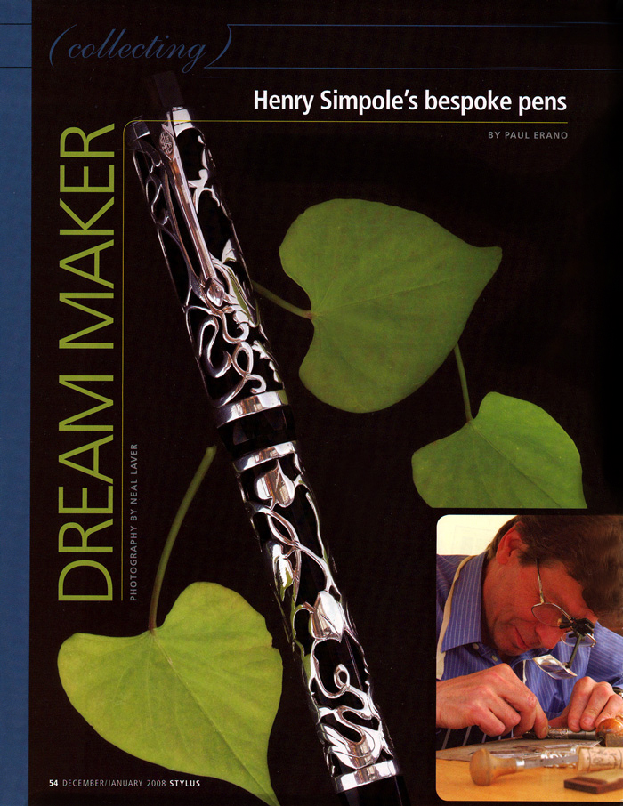 Dream Maker Henry Simpole, Stylus, December/January 2008